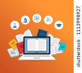 modern education concept.... | Shutterstock .eps vector #1113998927