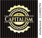 capitalism gold emblem or badge   Shutterstock .eps vector #1114002794