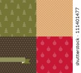 set of 4 vector christmas and... | Shutterstock .eps vector #111401477