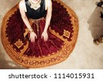 indian pakistani bride showing... | Shutterstock . vector #1114015931