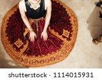 indian pakistani bride showing... | Shutterstock . vector #1114015931