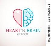 heart and brain concept ... | Shutterstock . vector #1114020821