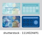 set of two loyalty card... | Shutterstock .eps vector #1114024691