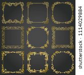 decorative gold frames and... | Shutterstock .eps vector #1114029884