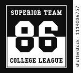 sports  college league t shirt...   Shutterstock .eps vector #1114036757