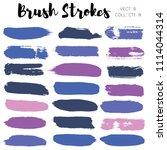 brush strokes set backgrounds.... | Shutterstock .eps vector #1114044314