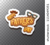 happy father s day vector... | Shutterstock .eps vector #1114049351
