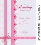 pink wedding card. | Shutterstock .eps vector #111405077