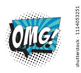 abbreviation omg  oh my god  in ...   Shutterstock .eps vector #1114053251