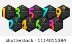 vector infographic label design ... | Shutterstock .eps vector #1114055384