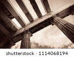 acropolis historical ruins in...   Shutterstock . vector #1114068194