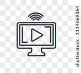 streaming vector icon isolated... | Shutterstock .eps vector #1114069364
