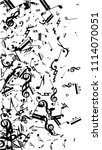 black musical notes on white...   Shutterstock .eps vector #1114070051