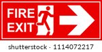 emergency exit sign. man... | Shutterstock .eps vector #1114072217