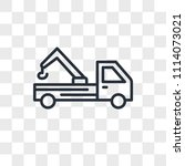 tow truck vector icon isolated... | Shutterstock .eps vector #1114073021