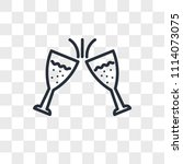 toast vector icon isolated on...   Shutterstock .eps vector #1114073075