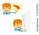 avatar cartoon manager in... | Shutterstock .eps vector #111407351