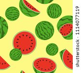 seamless pattern with ripe... | Shutterstock .eps vector #1114077119