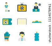set of 9 simple editable icons... | Shutterstock .eps vector #1114078961
