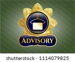 golden emblem or badge with... | Shutterstock .eps vector #1114079825