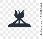bonfire vector icon isolated on ... | Shutterstock .eps vector #1114082474