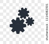 settings vector icon isolated... | Shutterstock .eps vector #1114082501