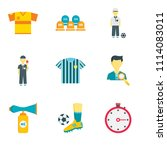 set of 9 simple editable icons... | Shutterstock .eps vector #1114083011