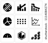 set of 9 simple editable icons... | Shutterstock .eps vector #1114084274