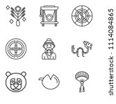 set of 9 simple editable icons... | Shutterstock .eps vector #1114084865