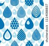 rain drops falling seamless... | Shutterstock . vector #1114088837