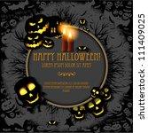 halloween vector card  or... | Shutterstock .eps vector #111409025