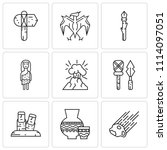 set of 9 simple editable icons... | Shutterstock .eps vector #1114097051