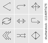 set of 9 simple editable icons... | Shutterstock .eps vector #1114097675