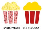 popcorn bucket mosaic icon of... | Shutterstock .eps vector #1114102055
