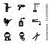 set of 9 simple editable icons... | Shutterstock .eps vector #1114105481