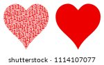 hearts suit composition icon of ... | Shutterstock .eps vector #1114107077