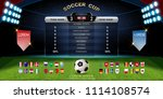soccer cup 2018  set of... | Shutterstock .eps vector #1114108574