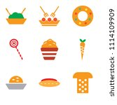 set of 9 simple editable icons... | Shutterstock .eps vector #1114109909