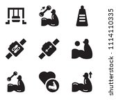 set of 9 simple editable icons... | Shutterstock .eps vector #1114110335