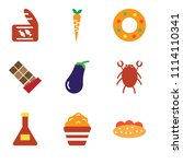 set of 9 simple editable icons... | Shutterstock .eps vector #1114110341