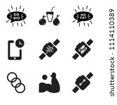 set of 9 simple editable icons... | Shutterstock .eps vector #1114110389