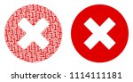 cancel mosaic icon of one and...   Shutterstock .eps vector #1114111181