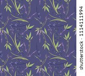 simple floral pattern with... | Shutterstock .eps vector #1114111994