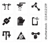 set of 9 simple editable icons... | Shutterstock .eps vector #1114112159
