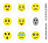 set of 9 simple editable icons... | Shutterstock .eps vector #1114112384