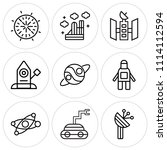 set of 9 simple editable icons... | Shutterstock .eps vector #1114112594