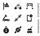 set of 9 simple editable icons... | Shutterstock .eps vector #1114112651