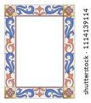 gothic illuminated manuscript... | Shutterstock .eps vector #1114139114