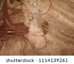 aerial drone image  top view ... | Shutterstock . vector #1114139261