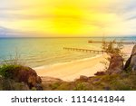 sea view from on the hill | Shutterstock . vector #1114141844